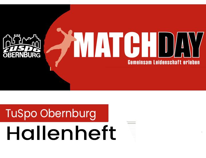 Hallenheft 1 zum Heimspiel der Tuspo vs.MSG Großwallstadt am So. 30.09.um 17:30 Uhr in der VB Halle